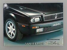 Libretto uso e manutenzione Maserati 4.24v.