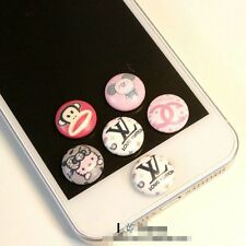 Wholesale 5pcs Cute Cartoon Home Button Sticker For All iPhone,Ipad