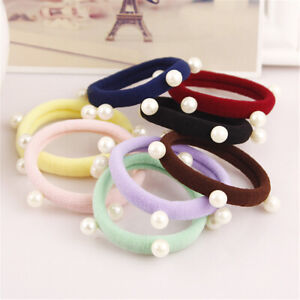 Fashion Simple Pearl Hair Ring Rope Seamless Elastic Headband Hair Accessories