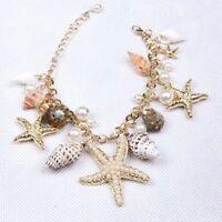Summer Pearl Shell Sea Style Multi Trendy Chain Star Starfish Beach Bracelet