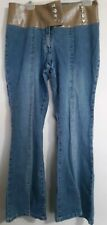 Carolina Blues Size 12 Banded Lace Up Bootcut Jeans With Stretch