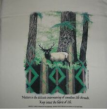 """""""BUCK DEER in FOREST"""" WILDLIFE, NATURE PROTECTION ENVIRONMENTAL STATEMENT : LRG"""