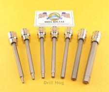 Hex Bit Socket 1/8-5/32-3/16-7/32-1/4-5/16-3/8 Hex Key Allen Wrench DrillHog USA