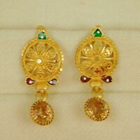 Designer Gold Plated Drop/Dangle Earring Traditional Wedding Fashion Jewelry