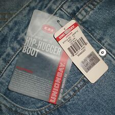NWT Union Bay Extra Low Rise Hip Hugger Boot Cut Jeans Jrs 11  W34 H42 R10 I33