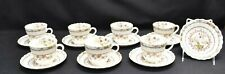 Spode Cowslip Set of 7 Cups & Saucers & 1 Fruit Dessert Bowl (Faults)