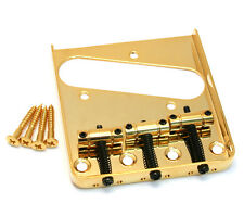 Gold Single Groove 3-Saddle Bridge for Fender Telecaster/Tele® GB-TTS-G