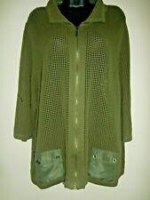 Allison Daley Women's green cardigan size 3X