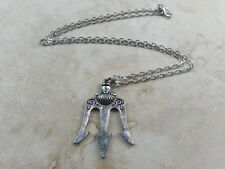 Trident - Tibetan Silver Tone Necklace Pendant with 19'' Chain
