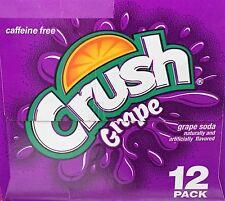 Crush Caffeine Free Grape Soda 12 pack