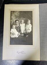 Vintage Mother & Children photo black & white Bowman Studios Danville Illinois