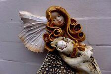 Ángel de cerámica con Bebé colgante arte hecho a mano hermosos Colores Granja Shop 06-07