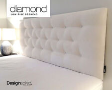 DIAMOND LOW RISE Upholstered Bedhead Headboard for King Size Ensemble - IVORY