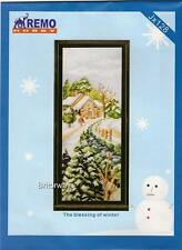 Counted Cross Stitch Kit WINTER SNOW COUNTRY DIY Chart Pattern Thread Embroidery
