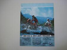 advertising Pubblicità 1991 MOTO BMW R100 R 100 GS
