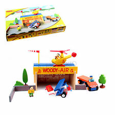 Woody Click Airport Childrens Toy Kids Wooden Toys 30+ Pieces
