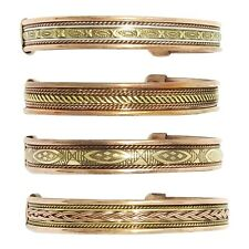 Assorted 4 Pc Copper Magnetic Therapy Bracelet High Power Adjustable Unisex Cuff