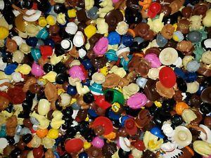 LEGO LOT OF 20 RARE MALE & FEMALE MINIFIGURE HAIR WIGS HATS BROWN BLONDE BEARD