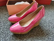 Vanilla Moon  CANDICE  FUSCHIA PATENT   WEDGE SHOES EU 41 - UK 7  NEW