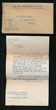 GB OFFICIAL PAID MACHINE PRIVY COUNCIL OFFICIAL ENV 1920 + LETTER to GEORGE KING