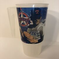 Nolan Ryan Plastic Cup Mug Texas Rangers 1999 Cooperstown MLB Hall of Fame Stats