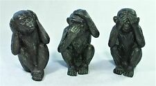 3 Wise Monkey Figurines Hear See Speak NO EVIL 9340536041315 New Statue