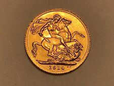 More details for superb 1914 george v gold sovereign full london mint