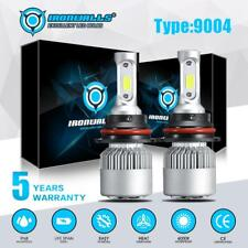 2x 9004 HB1 LED Headlight 3-Sided Bulbs High&Low Beam 2000W 300000LM 6000K White
