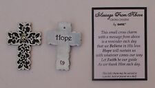 x 1x Hope Cross MESSAGE FROM HEAVEN pocket token cross charm carry with you ganz