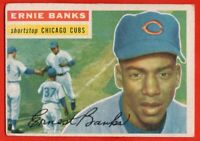 1956 Topps #15 Ernie Banks VG-VGEX Hall of Fame Chicago Cubs FREE SHIPPING