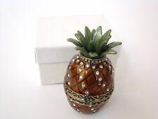 Jeweled Trinket Hinged Box - Pineapple
