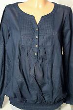 PIMKIE Bluse Gr. 40 dunkel-blau Baumwolle Hüft Bluse