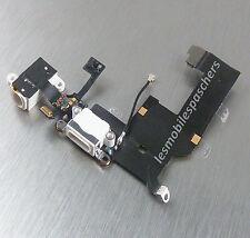 Nappe dock connecteur de charge prise jack micro pour IPhone 5 blanc