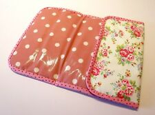 Handmade baby travel folding changing mat -Cath Kidston Spray Flowers & Oilcloth