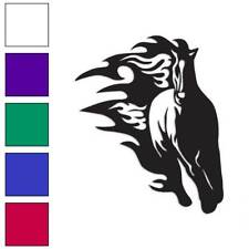 Horse Flames Running Decal Sticker Choose Color + Size #1061