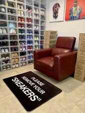 "XL Please remove your ""Sneakers"" Black Floor Mat Sneaker Hype rug Home Decor"