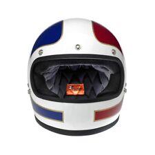 Casco integrale Biltwell Gringo LE TRACKER RED/WHITE/BLUE DOT helmet tg. XL