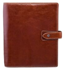 Filofax Malden A5 Organiser Chestnut Brown Buffalo Leather Vintage Ochre