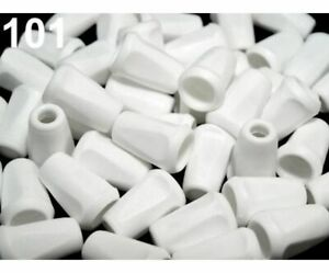 50pc Plastic Cord Ends 12x17mm Square And Locks Accessories Haberdashery