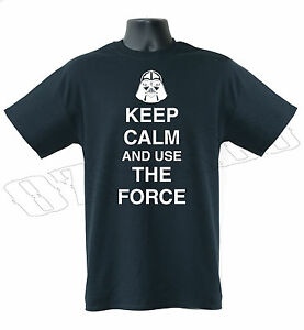 Keep Calm And Use Force Star Wars Funny Mens T-Shirt S-XXL Sizes