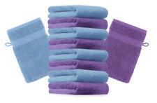 Betz lot de 10 gants de toilette Premium: violet &  bleu clair, 16 x 21 cm