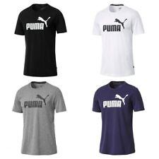 Puma Mens Essential T Shirt Gym Sports Tee Top Size S M Large XL XXL Black White
