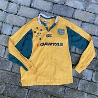 Australia Wallabies Rugby Union Jersey Authentic Team Replica Mens M Wallaby