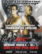 BJ Penn Signed 2006 UFC 58 8.5x11 Poster Photo Picture 8x10 Autograph B.J vs GSP