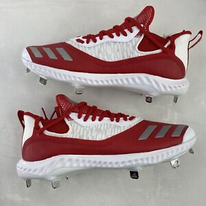 Adidas Icon V Bounce Iced Out Baseball Cleats Men's Size 11 Red White NEW EE4130