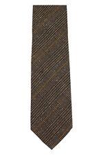 Tom Ford Mulberry Silk & Wool Neck-Tie Dark Blue & Brown Glen Plaid