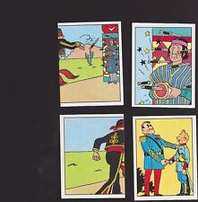 Herge Tintin Panini 1989 autocollant 4 im 73 74 75 76