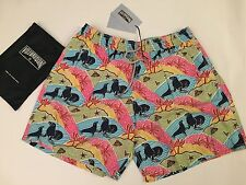 New w Tags & Bag Authentic Vilebrequin Moorea Multicolor Swim Trunks for Men 3XL