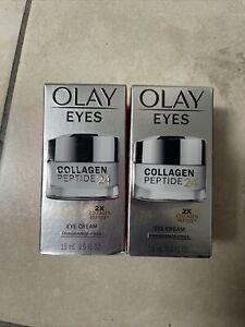 2 Pack Olay Collagen Peptide 24 Max Eye Cream 0.5 oz Each