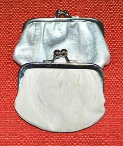AUTHENTIC AND CUTE SET OF 2 VINTAGE JUDITH LEIBER PILL/LIPSTICK MINI POUCH.